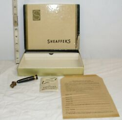 Sheaffer Desk Top Fountain Pen 1950s Box With Parts And Instructions