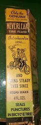 Nos Neverleak Balloon Tire Bicycle Sealant New In Box Rare Accessory Display