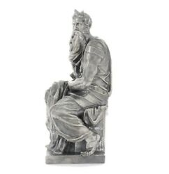 Limited Silver Figurine- Michelangelo's Moses Sculpture From Exodus 321-3439