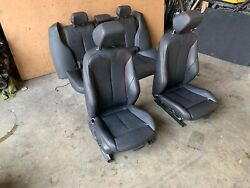 Bmw 2012-2018 F30 Front And Rear Heated Red Line Interior M Sport Seats Set 88mk