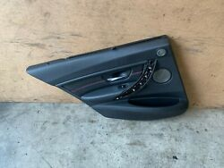 Bmw F30 Rear Left Driver Side Red Stitched Door Panel Card W/ Shade Oem 88mk