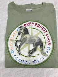 Rare BREYER HORSE BREYERFEST 2008 GLOBAL GALLOP KENTUCKY T Shirt Tee XL GILDAN