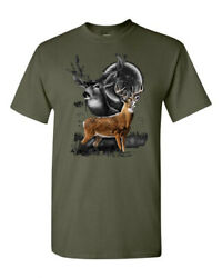 Deer Hunting Buck Wilderness Venison Whitetail Tee T-Shirt Gift New