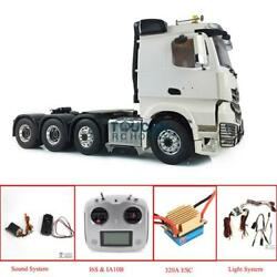 LESU 8*8 Metal Chassis Hercules 1/14 RC Mercedes Tractor Truck Cabin Sound Radio