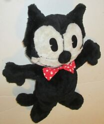 Vintage Felix The Cat Plush Stuffed Doll With Bowtie 13