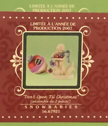 2007 Dpt 56 Snowbabies Special Holiday 56.67921 Don't Open Till Christmas