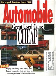 Automobile Magazine - September 1995 - Cover Good Used Cars Cheap