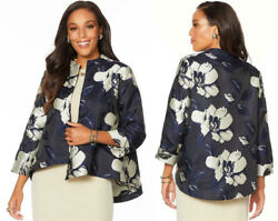 Heidi Daus Floral Jacquard Jacket New W/ Tags Sz 2x Sold Out