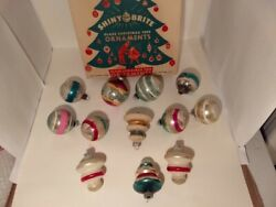Antique/vintage Mercury Glass Christmas Ornaments Shiny Brite,american Madelarge