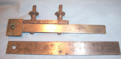 Starrett 299 Rule Clamp Coupler And 307 6 Ruler Machinist Lathe Mill Tool