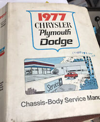 1977 Chrysler Plymouth Dodge Chassis Body Service Manual Dealer Info Tech Nice