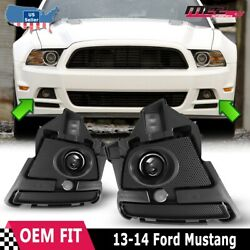Fits 13-14 Ford Mustang Clear Lens Pair Fog Light Lamps+wiring+switch Kit Dot