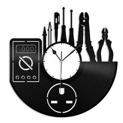 Electrician Vinyl Wall Clock Unique Gift for Friends Home Room Office Decoration