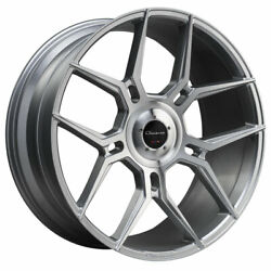 24 Giovanna Haleb Silver 24x10 Directional Concave Wheels Rims Fits Ford F-150