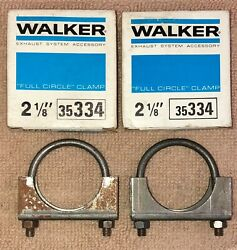 Nos Walker 35334, 2 1/8 Full Circle Exhaust Clamp. Lot Of 2.