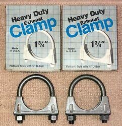 Nos 1 3/4 Heavy Duty Full Circle Exhaust Clamp. Made In Usa. Lot Of 2.