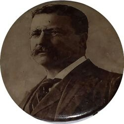 Campaign Pin Pinback Button Theodore Roosevelt 7/8 Approx- Baltimore Badge Co