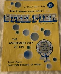 The Steel Pier Program Guide With Louis Armstrong Signature Guaranteed Authentic