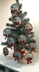 Christmas Tree Hanging Decorations Vintage Holidays Different Designs 10 Pc Pack