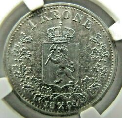 Norway 1 Krone 1894 Ngc Au Details. Very Rare This High Grade.
