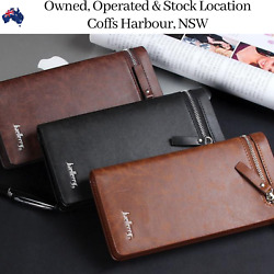 Women Brown Leather Coin Purse Wallet Cash Credit Card Holder Clutch Wallets NEW AU $21.11