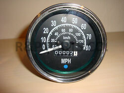 Speedometer Gauge For Willys Mb Jeep Ford Cj Gpw Black Dial Chrome Bezel 80 Mph