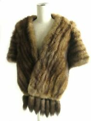 SABLE Russian Sable with Bunch Honfur Shawl Brown
