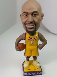"""Collectible Los Angeles Lakers Karl Malone 11 Bobblehead. 7"""" Tall"""