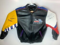 Indy 500 Newman Haas Jacket Signed Paul Newman, Carl Haas, And 2 Others