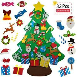 partyGO 32 PCS Felt Christmas Tree for Toddlers- Kids' Gifts DIY...