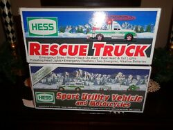 Hess Truck,sport Utility Vehicle And Motorcycles 2004 ,rescue Truck, 1994 New