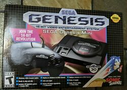 Sega Genesis Mini Game System Console With 2 Controllers And 40+2 Games New