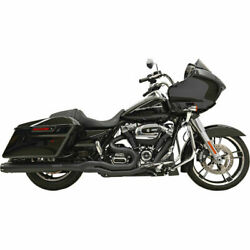 Bassani Black Straight Can B4 2-into-1 Exhaust System 2017-19 Harley Touring