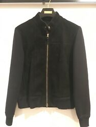 Tom Ford Suede Jacket. Size Us40/ 18 Gauge Merino Wool And Suede. Double Zipper.