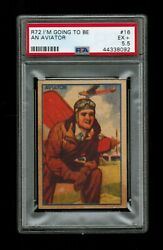 Psa 5.5 Charles Lindbergh 1930 I'm Going To Be An Aviator Candy Card 16 Nice