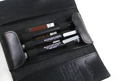 A.g.spalding And Bros Ballpoint Rollerball And Mechanical Pencil Set W/leather Case