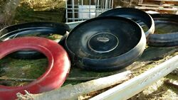 Vintage 1930and039s Ford Steel Spare Tire Cover And Rings