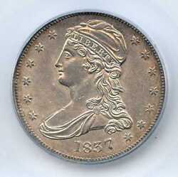 1837 50c Capped Bust Silver Half Dollar. Icg Graded Ms 62. Lot 2253