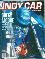 Greg Moore Autograph Signed Indy Car Racing Magazine - Rare - Deceased