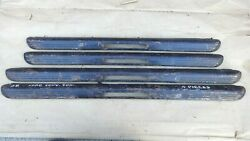 1938 Ford Deluxe Convertible Sedan Door Window Garnish Moldings Original Set-4