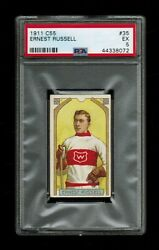 Psa 5 Ernest Russell C55 Imperial Tobacco Hockey Card 35
