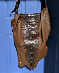 Rare Carlos Falchi Genuine Python and Alligator Le Rock Star Designer Bag