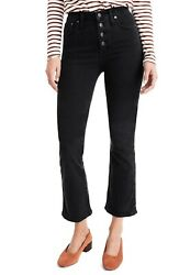 Madewell Cali Button-Front Edition Demi-Boot Jeans (Bellspring Wash) (Regular