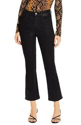 7 For All Mankind Slim High Waist Ankle Kick Jeans (Coated Penny)