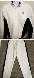 Cropped Nike Women's S Full Track Warm-up Suit Pants And Jacket White//black