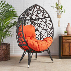 Kyahna Indoor Wicker Egg Chair with Cushion
