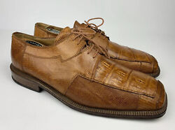 David Eden Genuine Crocodile Alligator Lizard Oxford Brown Men 10.5 *Very Rare*