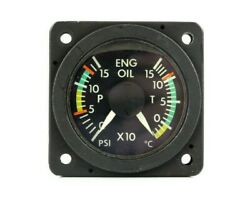 Insco Oil Temp/pressure Indicator P/n 9009-3028 Serviceable With Faa 8130