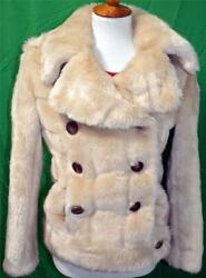 Ultra-rare By Tom Ford 1996 Runway Golden Sable Faux Fur Bomber Coat 6/8