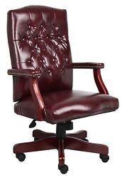 Boss Office And Home Traditional High-back Executive Swivel Chair